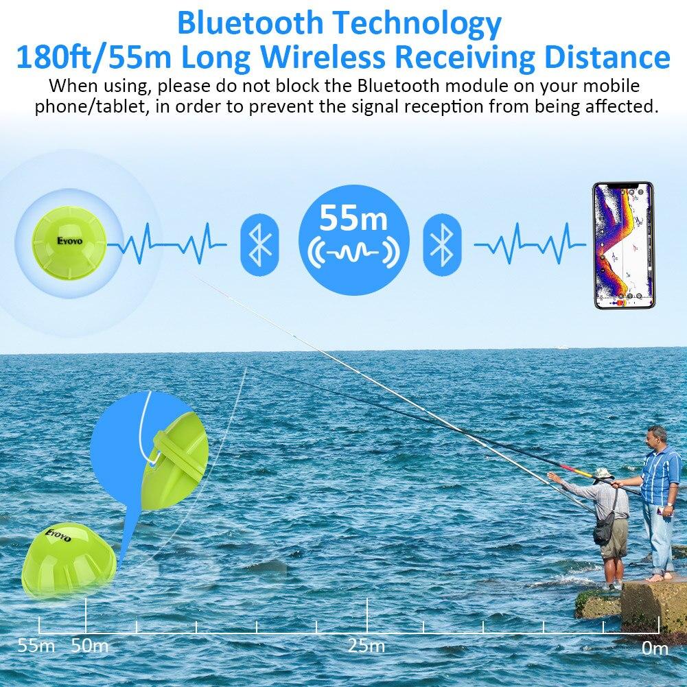 Drahtlos Sonar Fishfinder Bluetooth Tiefe See Fisch Erkennen Gerät Ios Android