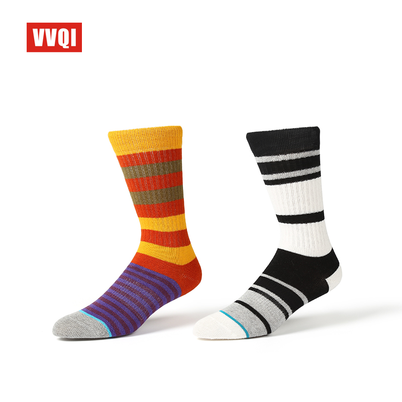 VVQI 2018 mens socks street funny dress novelty 5pairs crew socks hip hop happy socks harajuku cotton socks men gift boxs art