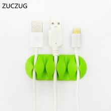 Высокое качество ZUCZUG устройство для сматывания кабеля для наушников Кабельный органайзер для хранения провода кремниевое зарядное устройство держатель кабеля зажимы для MP3, MP4, наушников