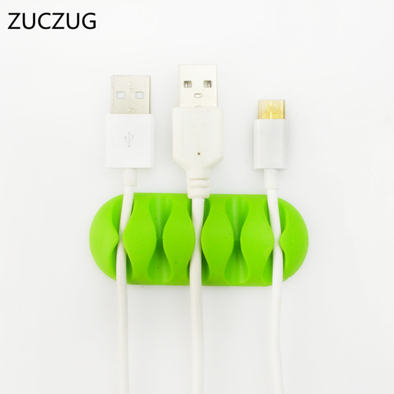 earphone mp4 Smart High Quality Zuczug Cable Winder Earphone Cable Organizer Wire Storage Silicon Charger Cable Holder Clips For Mp3
