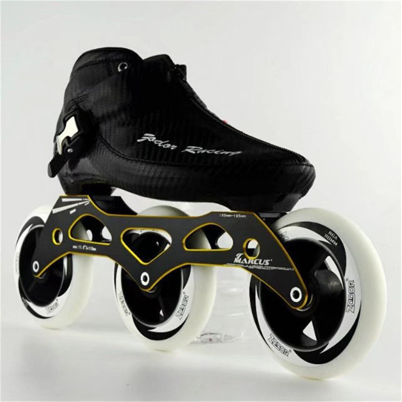 In Fibra di carbonio Fibra di Vetro Velocità Pattini In Linea A Tre Ruote del capretto Concorso Adulto Strada Da Corsa Scarpe Sportive Scarpe Da Ginnastica scarpe Patines F026