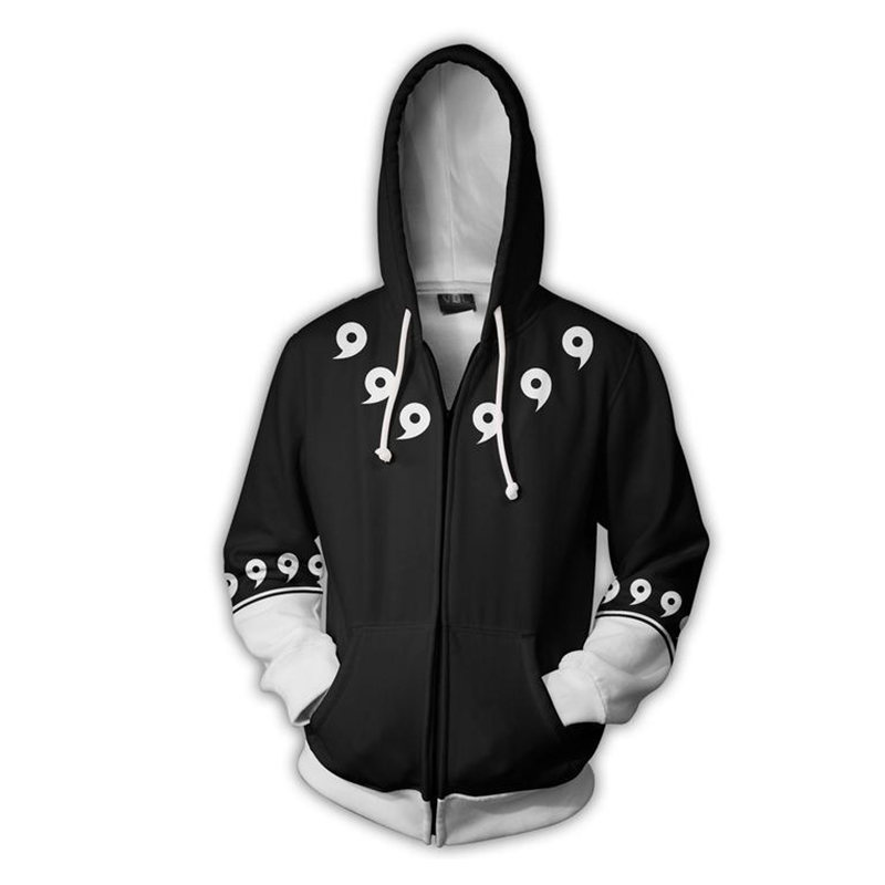 6e43b94f998 2019 YOUTHUP 2018 Zipper Hoodies For Men Cosplay Naruto Hoodies Cool ...