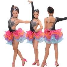 Румба туалетный самба сальса латинский этап бальные танец костюмы платья девушки
