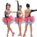 Menina Dança Latina Vestido rumba samba Meninas Roupas Vestidos das Meninas Trajes Desgaste Estágio garoto ballroom Salsa vestir