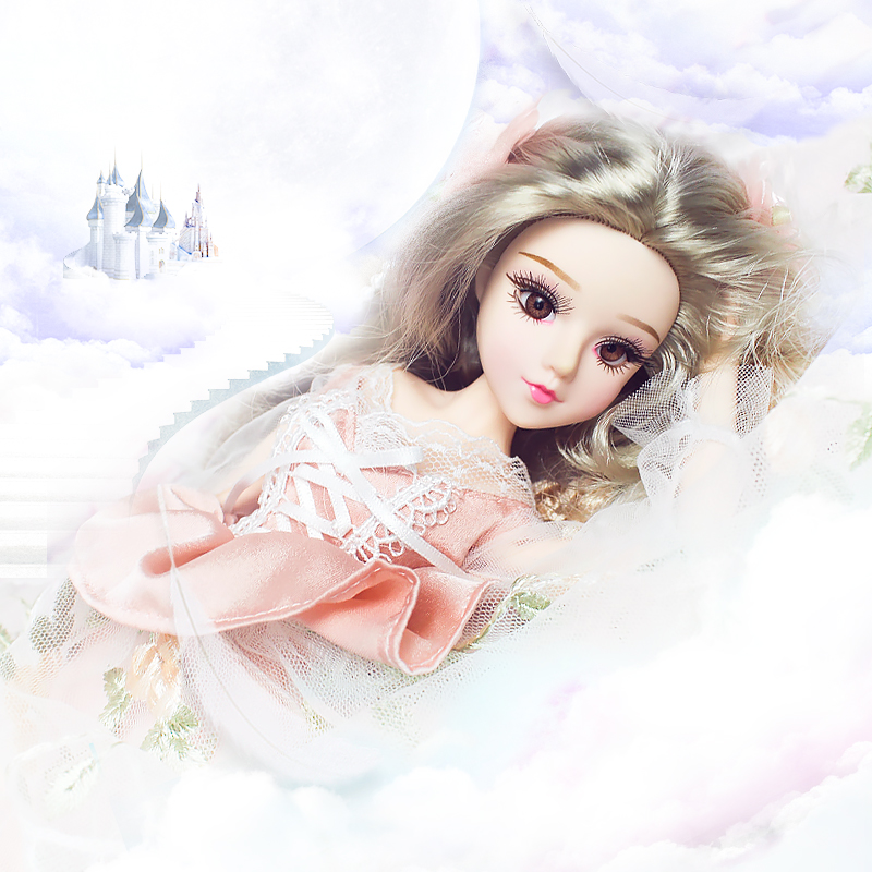 MMG Free shipping Dream Fairy BJD doll 12 constellations Cancer with flower outfit shoes stand necklace 14 joint body toy gift-in Dolls from Toys & Hobbies    3