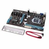 B85 BTC Mining Motherboard PCI E Extender Riser Board High Speed PCI Express 16x Riser 6pcs PCI E Extender Express Chipset