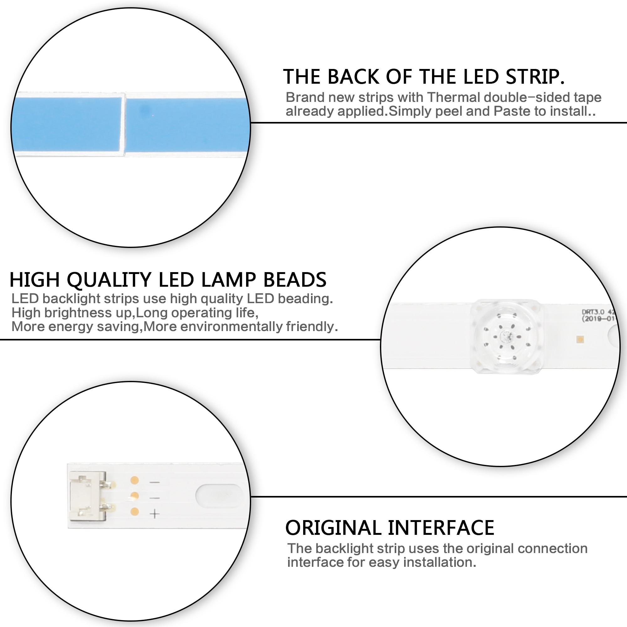 """Image 5 - LED Backlight strip 8 Lamp For LG 42 inch TV INNOTEK DRT 3.0 42"""" 6916L 1709B 1710B 1957E 1956E 6916L 1956A 6916L 1957A 42LB561vRemote Controls   -"""