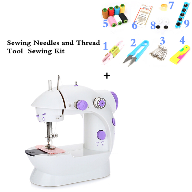 Mini Handheld Sewing Machines Sewing Kit Dual Speed Double Thread Mesmerizing Sewing Kit For Sewing Machine
