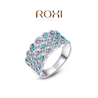 ROXI Rings For Women 925 Sterling Silver Anillos Wedding Anel Ring Fine Jewelry Ring Anelli Donna Gold Ring