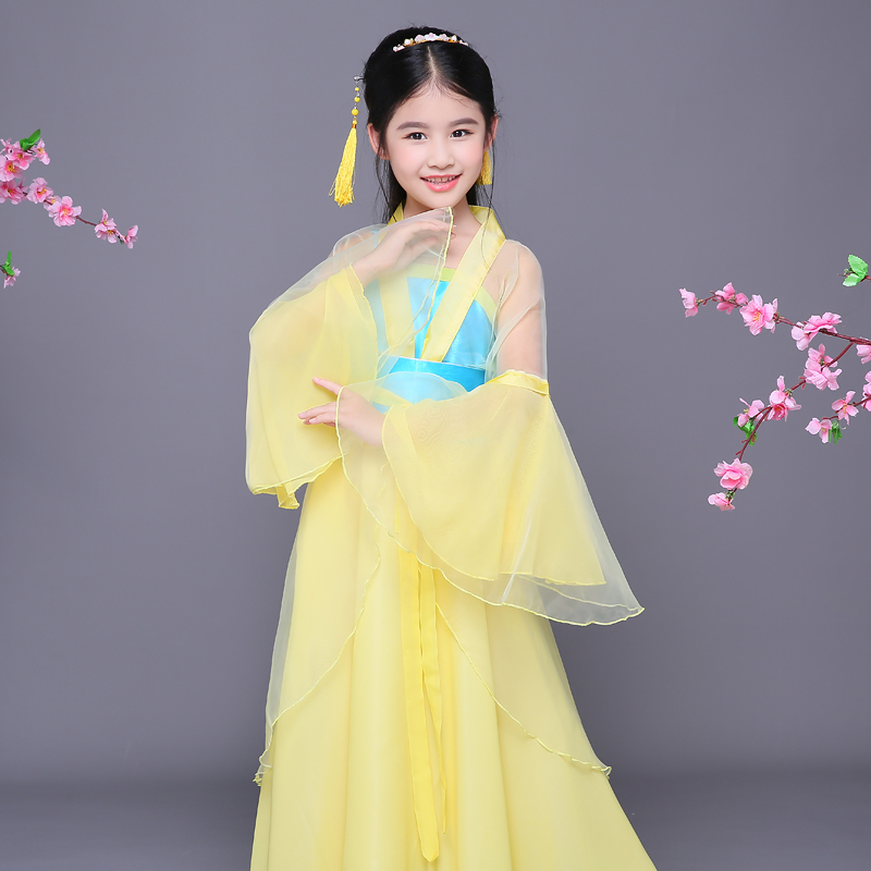 2017 autumn girls the traditional classical dance full sleeves classical folk dance water sleeves dance costumes hanfu beauty gold cloth insert comb classical costume the bride hair accessory hanfu cheongsam accessories