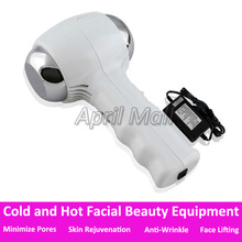 Portable Cold and Hot Therapy Facial Massager Face Lifting Lift Wrinkle Removal Skin Care Skin Rejuvenation Beauty Equipment