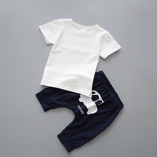 YiErYing Newborn Clothing Fashion Cartoon Summer Leisure Cotton 2Pcs T-shirt+Pants For Baby Boy Girl Clothes Baby Clothes Sets