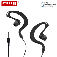 CHYI Stereo Wired Ear Hook Earphone Waterproof Headset Earbuds Sport 3.5mm Dynamic Moving Coil hi-fi fone de ouvido For Phone