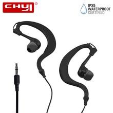 CHYI Stereo Wired Ear Hook Earphone Waterproof Headset Earbuds Sport 3.5mm Dynamic Moving Coil hi-fi fone de ouvido For Phone