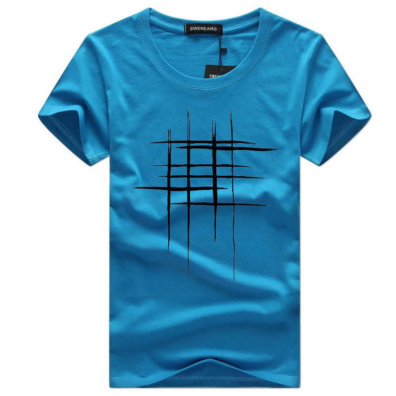 Nouveaux Hommes D'été t-shirt Marque-Vêtements Imprimé chemise Homme Imprimé À Manches Courtes T-shirt Jaune Blanc T-shirt Pour Les Hommes