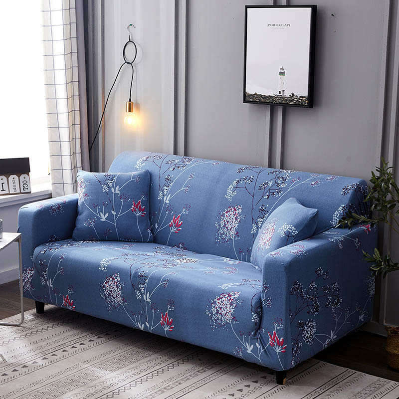 1pc Leaf and Flower Printed Sofa Cover Made of Polyester and Spandex Fabric for L Shaped and Corner Sofa 17