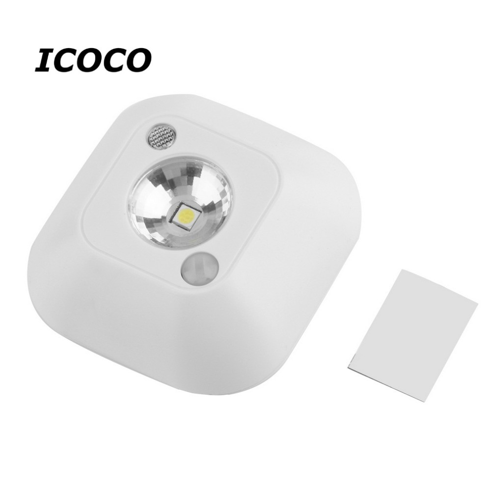 mini wireless motion sensor ceiling night light porch wall. Black Bedroom Furniture Sets. Home Design Ideas