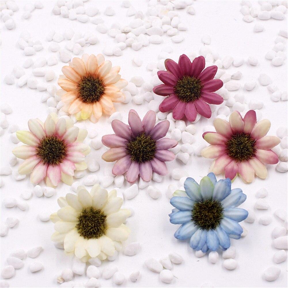5pcs Silk Artificial Flowers Daisy Flower Bouquet Diy Wedding
