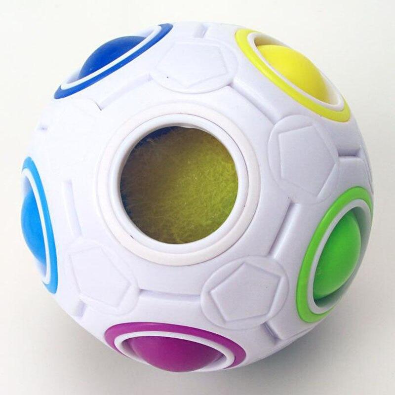 Fun Creative Sphérique Puzzle Cube Vitesse Arc-En-Boule De Football - Jeux et casse-tête - Photo 2