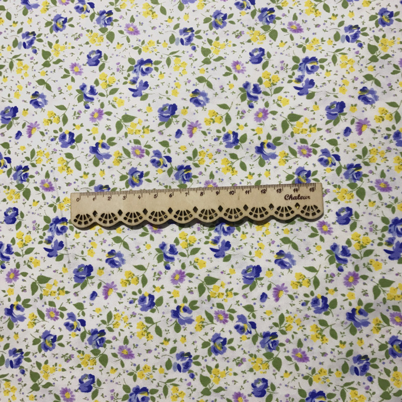 Yellow Floral 100/% Cotton Prints Dress Craft Fabric 160cm Low COMBINED postage.
