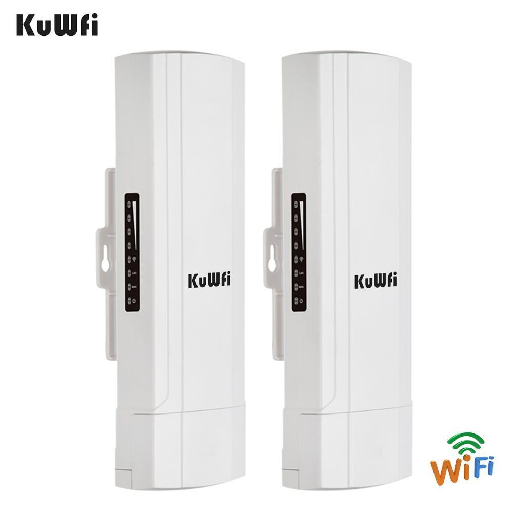 Image 5 - KuWFi Outdoor CPE Router Wifi Repetidor Wifi Extender 2 Pics Transmission Distance Up To 3KM Speed Up To 300Mbps Wireless CPE-in Wireless Routers from Computer & Office