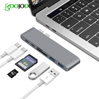 GOOJODOQ USB Type C Hub To Card Reader USB C Hub 3 0 Adapter Combo With