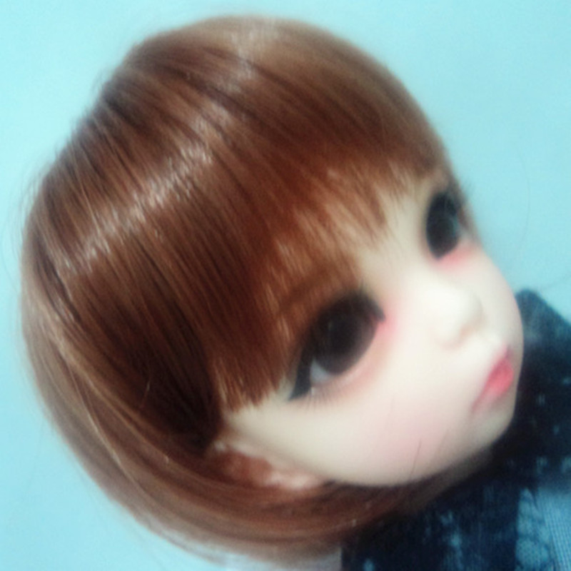 1/6 BJD Doll short wig brown yosd- high temperature wire yosd 1 6 yosd bjd wig guyomi mohair wig 6 7inch doll accessories