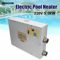 Водные виды спорта 5.5KW 220 В Электрический плавательный бассейн и спа ванны Отопление ванной водонагреватель термостат 220 В бассейн аксессуа