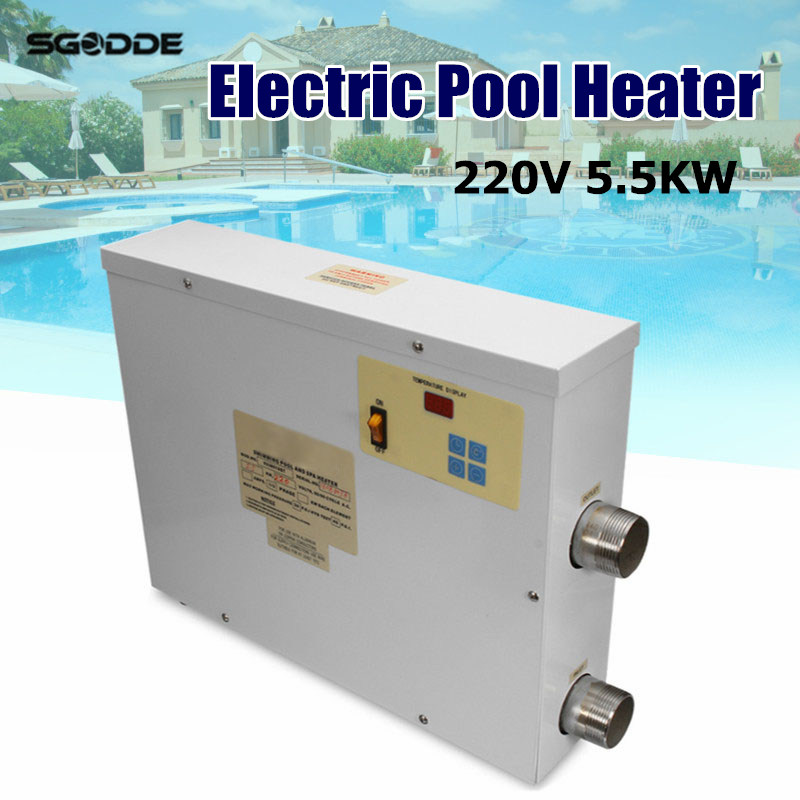 Water Sports 5.5KW 220V Electric Swimming Pool and SPA Bath Heating Tub Water Heater Thermostat 220V Swimming Pool Accessories lx h30 rs1 3kw hot tub spa bathtub heater