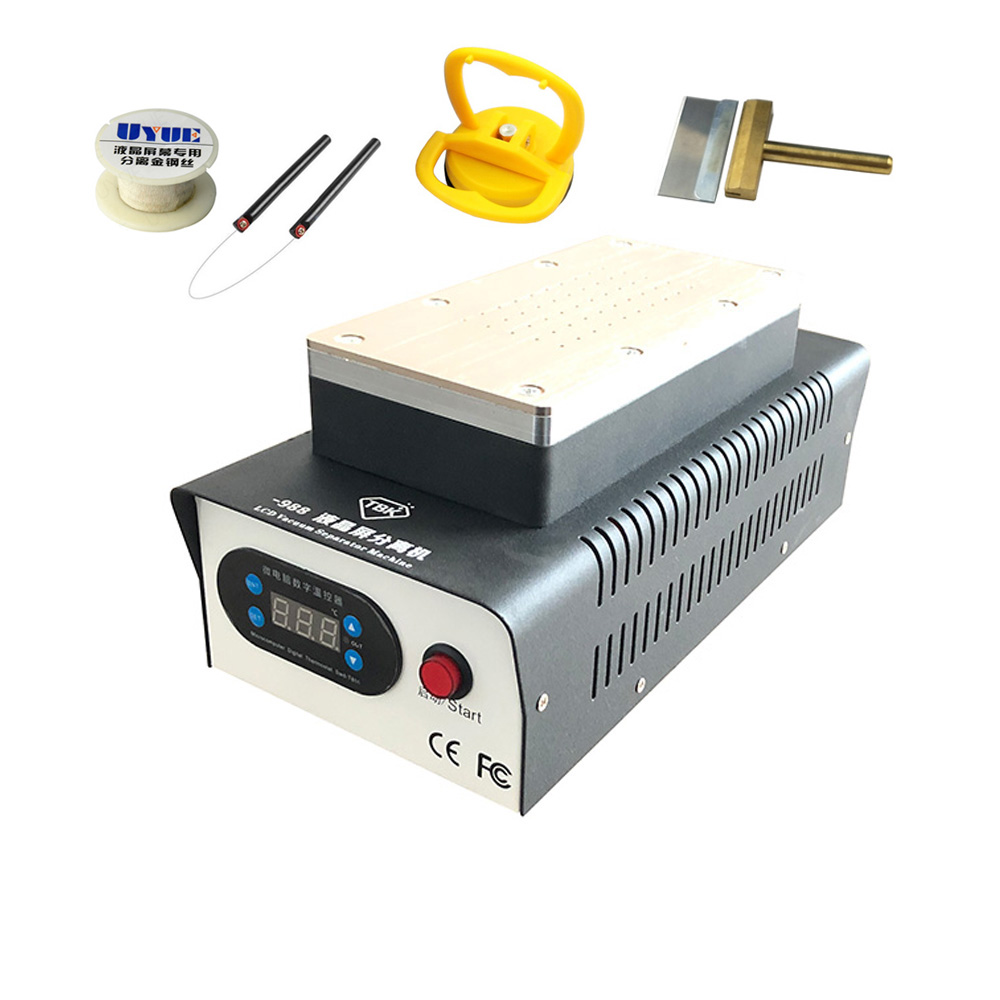 TBK-988 Dual Vacuum Pump Manual Separator + Gift Double Pump LCD Screen Splitter OCA Glue Removal Separator For Curved ScreenTBK-988 Dual Vacuum Pump Manual Separator + Gift Double Pump LCD Screen Splitter OCA Glue Removal Separator For Curved Screen