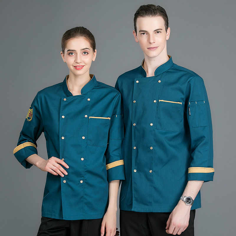 Chef Coat Unisex Long Sleeve Restaurant Uniforms Shirts Catering Kitchen Hotel Chef Waiter Work Uniform Cook Clothes Chef Jacket