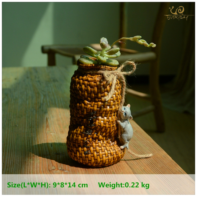 Everyday Collection Resin Cat creeping basket Home Decoration Accessories &fairy garden decoration & flower Pots decorated