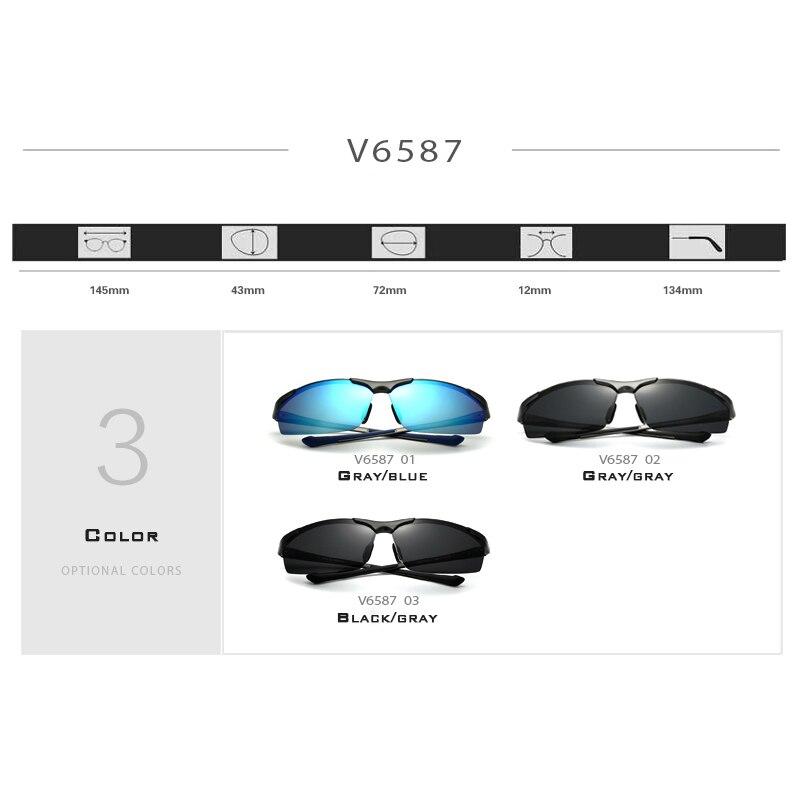 Aluminium Magnesium Rimless Sonnenbrillen der Männer polarisierte - Bekleidungszubehör - Foto 4