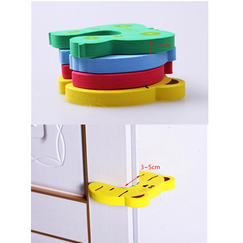 Child Safety Protection Baby Safety Animal Security Card Door Stopper Baby Care Newborn Protect Lock Finger Protector 5pcs lot in Edge Corner Guards from Mother Kids