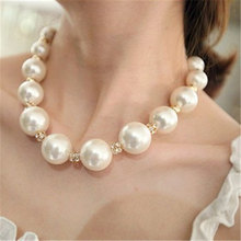 ZCHLGR Punk Big Pearl Choker Necklace Collar Statement Crystal Pendant Necklace Night club Women Jewelry meild big crystal clear pendants necklace women fashion punk statement collar choker necklaces jewelry party gifts