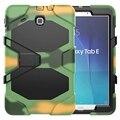 Для Funda Tablet Samsung Galaxy Tab E 9.6 Крышки Случая T560 T561 Прочный Силиконовый + ПК Гибридный Прочный Противоударный Воды репеллент Случае