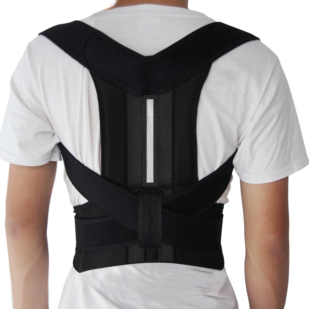Adjustable Posture Corrector Back Support Shoulder Lumbar Brace Support Corset Back Belt for MenAdjustable Posture Corrector Back Support Shoulder Lumbar Brace Support Corset Back Belt for Men