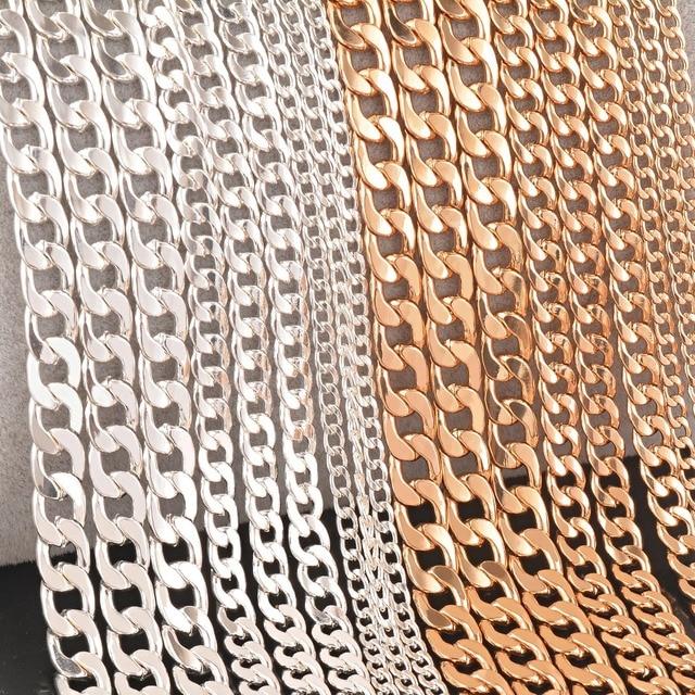 1 pezzo cuban link catena collana placcato argento e oro gioielli personalzied l