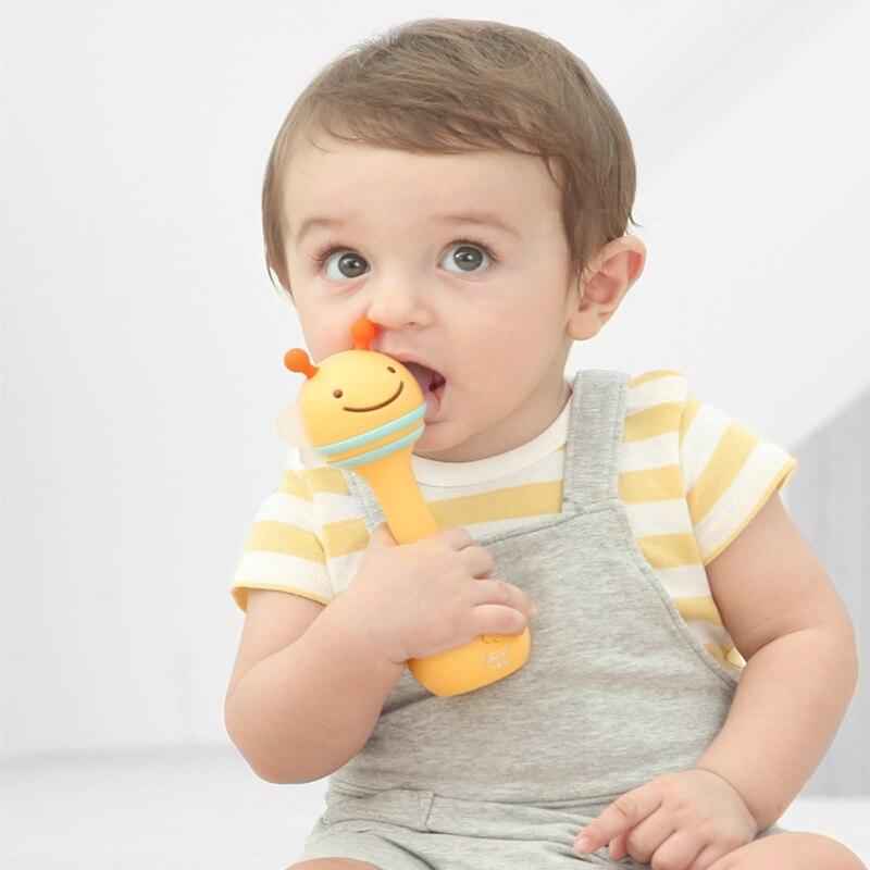 Bébé main cloches jouets 6-12 mois jouet pour bébés Puzzle musique et lumière secouant hochets Plasmas bébé son lumière rythme Induction