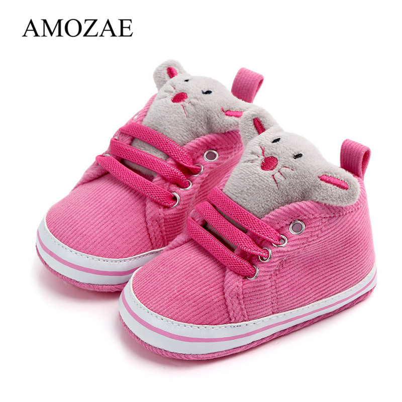 Baby Boys Girls Shoes Animal Pattern Baby Shoes Spring Autumn Anti-slip Toddler Indoor Cute Shoes Newborn Footwear First Walkers