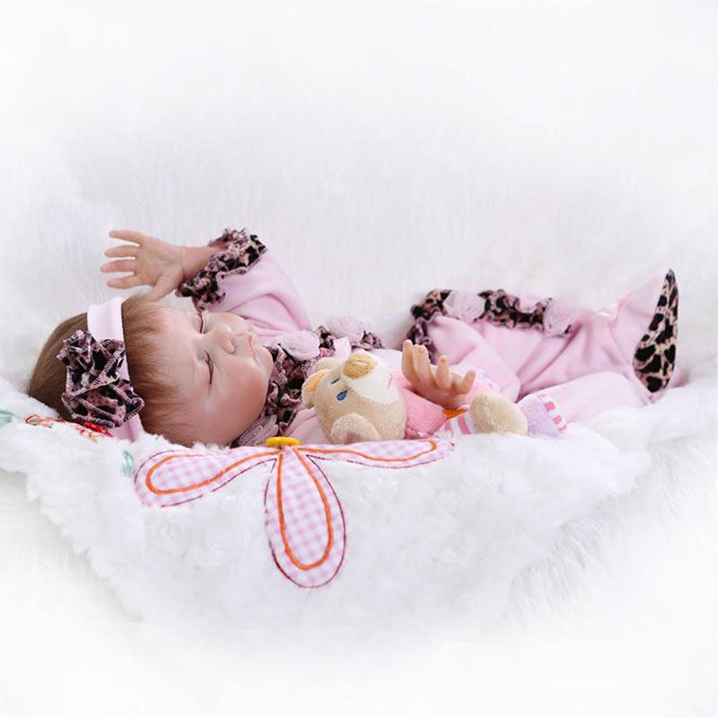 Touch Soft Silicone Reborn Dolls 20 Inch Real Like At Sleeping Babies For Sale Baby Stuff Fashion Kids Doll Toy Birthday Gifts new fashion design reborn toddler doll rooted hair soft silicone vinyl real gentle touch 28inches fashion gift for birthday