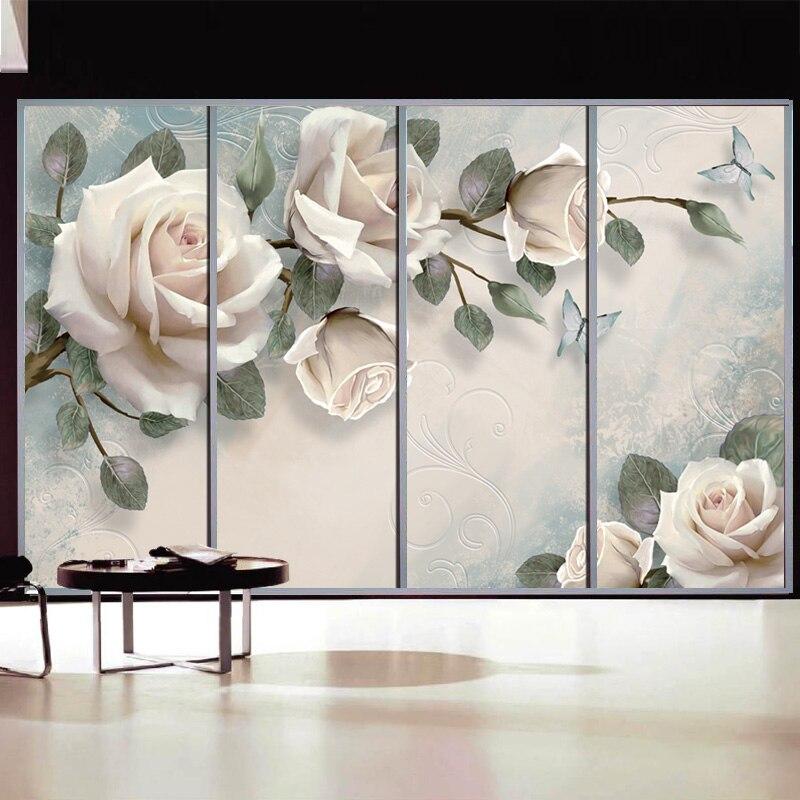 Glass, Rose, Customized, Windows, Sticker, Size