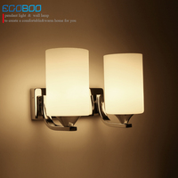 NEW Modern Factory Direct Sale Stainless Steel Glass Wall Lamps Hotel Bedroom Restaurant Bedside Light Lamp