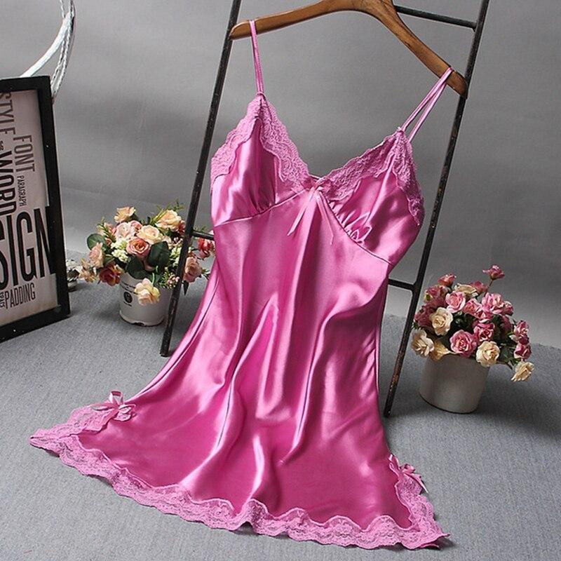 Sexy Women Nightgown Hot Nightwear Sexi Slits Nightdress Nightie Vintage home Sleepwear Female Pijama White black Dress 6