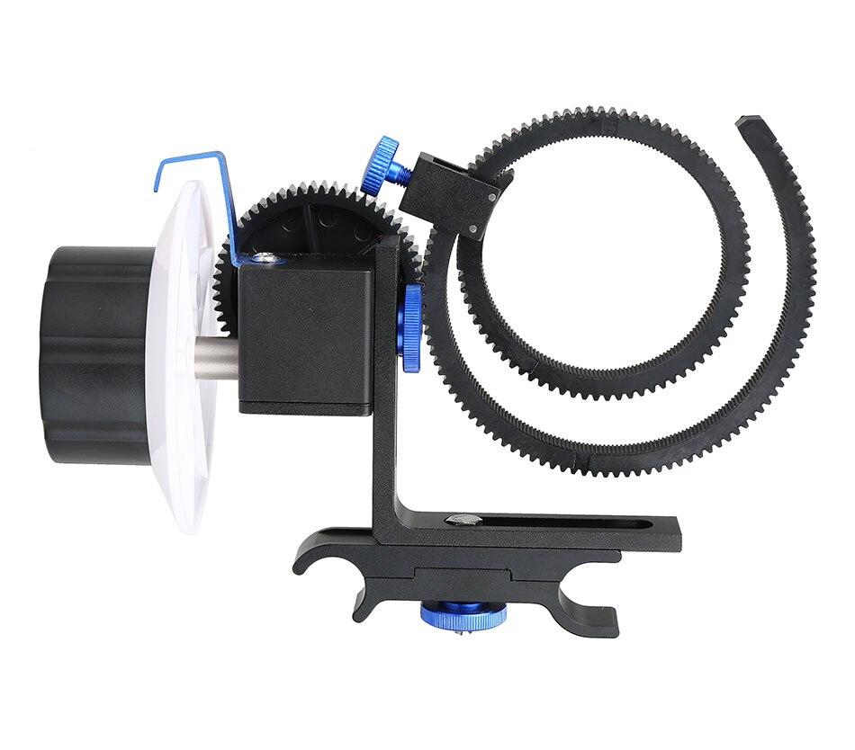 Les machines d'objectif de caméra suivent le Focus métal réglable avec la ceinture de bague d'engrenage 15mm système de Support de montage de tige pour l'appareil photo Canon Nikon DSLR
