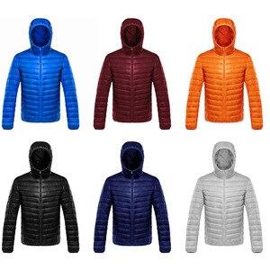 Image 3 - Для мужчин Мужские парки зимнее пуховое пальто Куртка–пуховик на 90% белом утином пуху Ultra Light Plus Размеры зимняя брендовая Пуховики и парки для мужчин Для мужчин Верхняя одежда с капюшоном, пальто