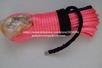 Высокое качество розовый 12 мм * 30 м синтетический трос, трос лебедки расширение, буксировочный трос, ATV трос лебедки, лодка тросе