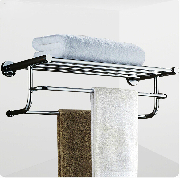 Wall Mounted Bathroom Towel Shelf Holder Chrome Finished Towel Rack with Towel Bars jomoo high quality brass alloy towel bar set rack tower holder hanger bathroom wall mounted hotel shelf chrome finish design