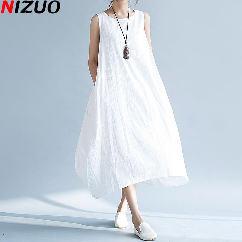 Popular White Cotton Sundresses-Buy Cheap White Cotton Sundresses ...