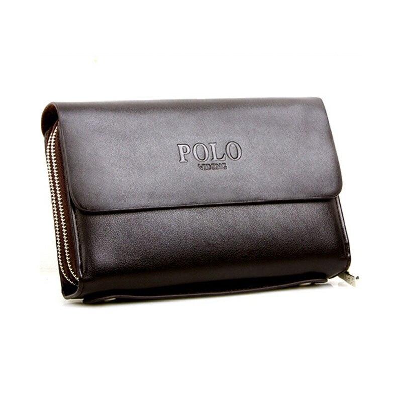 df1e3f86d8 2016 New designers brand PU leather men s double zipper long design wallets  fashion brown color leather purse KK-2